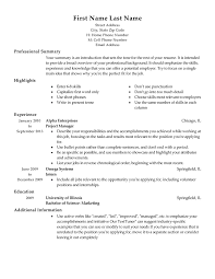 How To Write A Professional Summary For A Resume by Free Resume Templates Fast Easy Livecareer