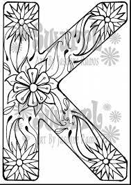 K Coloring Pages For Adults