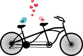 Tandem Bicycle Clipart Love Birds Wedding By TheLilCliparts