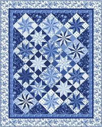 Porcelain Prism Stars Quilt Pattern PC 177 intermediate wall