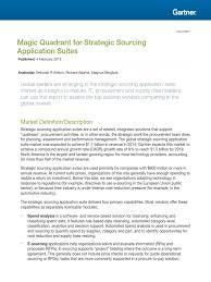 Service Desk Software Gartner Magic Quadrant by Gartner Magic Quadrant For Strategic Sourcing 2015 Pdf Sap Se