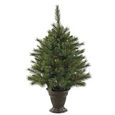 Vickerman Cashmere Artificial Christmas Tree With 50 Multi Colored Lights Comes A Battery Operated