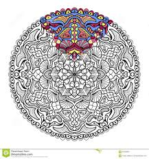 Vector Zendala For Coloring Book Adults Stock