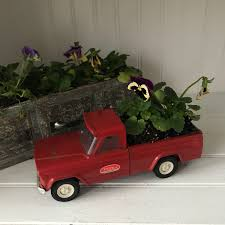 Vintage Red Tonka Pick Up Truck Fill It With Flowers For A