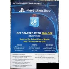 PLAYSTATION STORE 20% OFF DISCOUNT CODE USA
