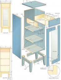 cabinet carpentry plans bar cabinet