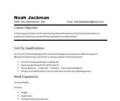 Resume Objectives Examples General Objective On Summary For Nursing