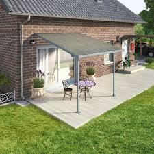 pergola adossee pas cher chalet jardin pergola alu adossée couv terrasse 3 x 3 m gris