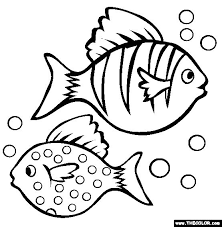 Two Fish Coloring Page