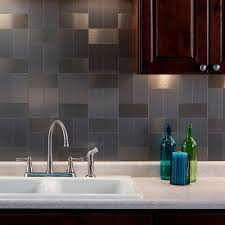 aspect grain 6 in x 3 in brushed stainless metal decorative