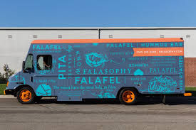 100 Food Trucks For Sale California Falasophy Falafel Truck Brand Identity Truck Wrap Design