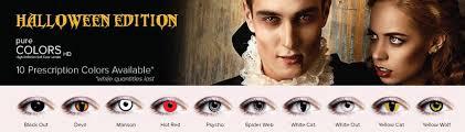 Cheap Prescription Halloween Contacts Canada by Halloween Contacts By Pure Colors Hd Contact Lenses