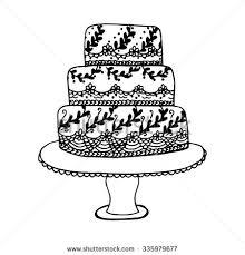 Drawn wedding cake 5