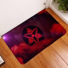 homemiyn moderne neue bad matte sharingan rot lila bad matte teppich badezimmer non slip tür matte im freien eingang küche hause decor