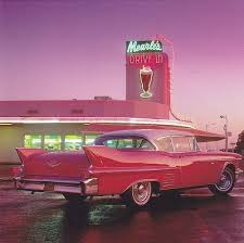 Car Diner Drive In Milkshake Pink Retro Tumblr Vintage