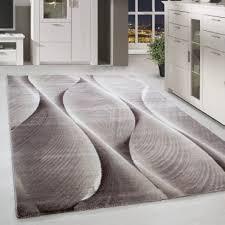 kurzflor teppich für wohnzimmer teppich läufer schatten muster beige weiss mel