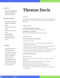 Teacher Resume Format Template Example
