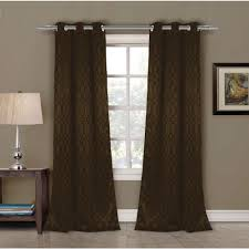 grommet light brown wood curtains drapes window treatments