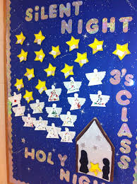 Kindergarten Christmas Door Decorating Ideas by Religious Christmas Bulletin Board For Preschools Preschool