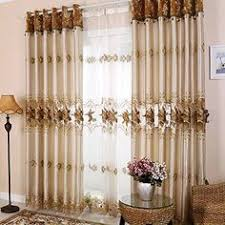 Searsca Sheer Curtains by Vcny 2 Pack Empire Embroidered Sheer Curtain Grey Sheer