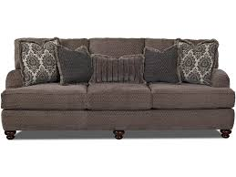 King Hickory Sofa Construction by Klaussner Declan Traditional Sofa With Turned Feet Darvin