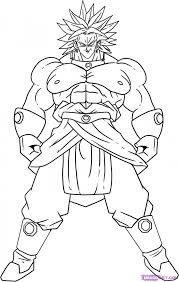 Broly Dragon Ball Z Coloring Pages
