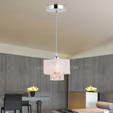 one light country style pendant lights kitchen with silver color