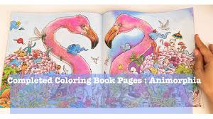 My Finished Colouring Book Pages From Animorphia