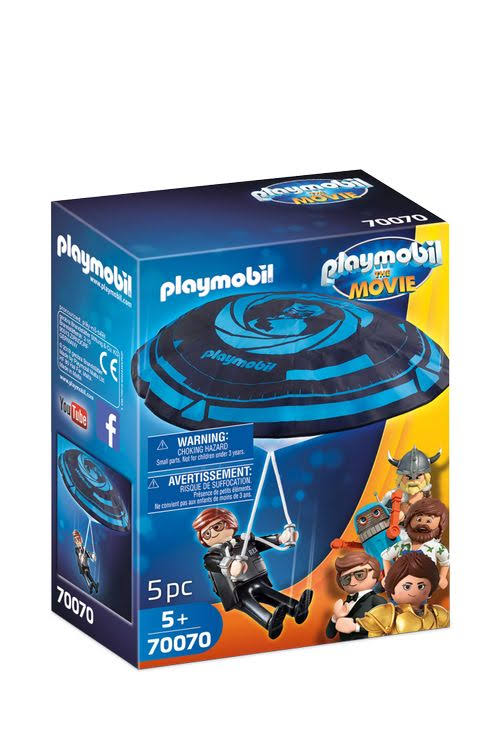 Playmobil The Movie Playset - Rex Dasher & Parachute, 5 Piece