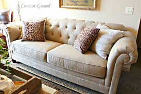 Common Ground : A New Look For The New Living Room Paisley Curtain Chesterfield Sofas Pottery Barn Grand Sofa Militiartcom Sofa 14 Wonderful Tufted Style Spotlight Why Buttoned Chesterfield Antique Brown Elegant Leather Investasisehatco Articles With Sectional Covers Tag Pottery Barn Couches Craigslist Okaycreationsnet Interior Impressive Living Room Design With Martha Stewart My Obsession Fding Silver Pennies Collection Au Center 44 Awful Picture