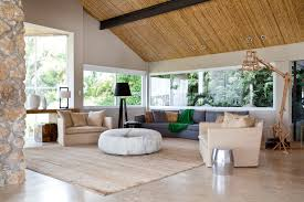 Architecture Rustic Modern Living Room Design With Light Brown Petrie Chair And Carpet Tiles Plus