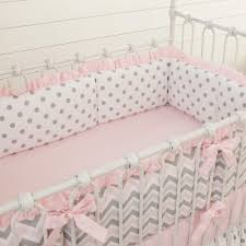 pink and gray chevron crib bedding carousel designs