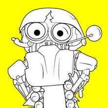 Transformers Bumblebee Sqweeks Coloring Page