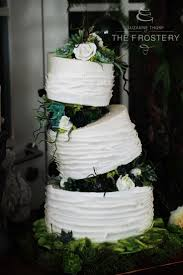 Three Tier Illusion Wedding Cake With Ripped Paper Effect And Sugar Succulents At Manchesters Great John
