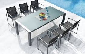 304 Stainless Steel With Galss Top Table Sets