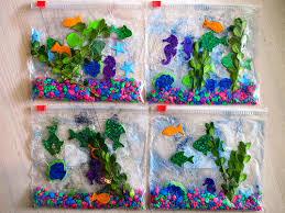 Heres What You Need Plastic Bags We Used Quart Sized Packing Tape Cheap Blue Hair Gel Foam Fish Sea Stickers Sheet Aquarium Rocks