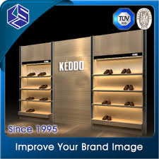 Shoes Shop Interior Design Wall Mounted Display Rack