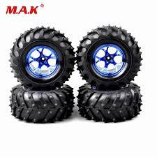 Rc Big Foot Tires &Wheel Rims 12mm Hex For HSP HPI 1/10 Bigfoot ...