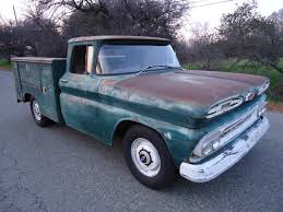 100 Chevy Utility Trucks CALIFORNIA NATIVE 1961 CHEVY UTILITY BED TRUCK WITH NATURAL PATINA