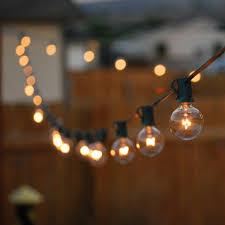 Outdoor Light String 100ft Globe Patio String Lights 100 foot