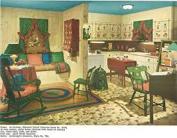 Vintage 1940s Kitchen And Living Area
