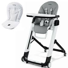 Peg Perego Siesta High Chair With Peg Perego Booster Cushion (Ice)