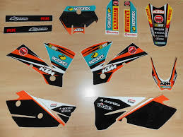 kit deco 125 sx 2004 kit déco complet ktm sx sxf 2004 rd2shop fr