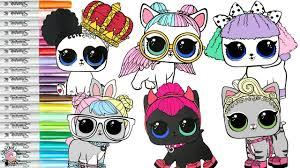 LOL Surprise Pets Coloring Book Compilation Pupsta Hop Dolls Confetti Pop