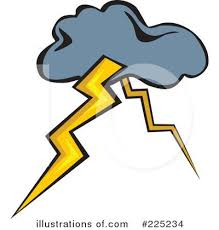Awesome Thunder Storm Clip Art Lightning Strike Clipart Cliparthut Free