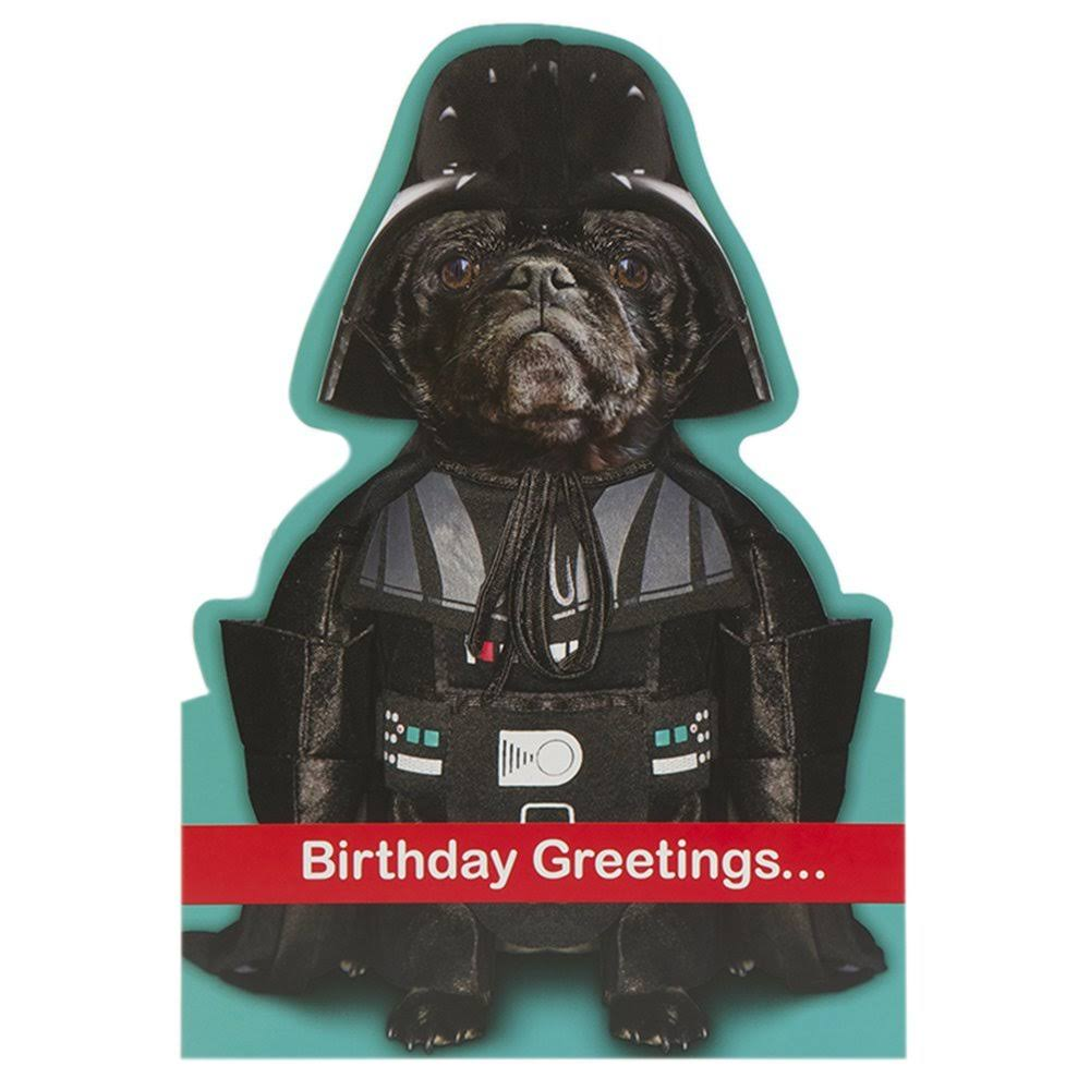 Star Wars Darth Dog Birthday Card