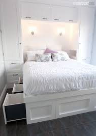 Free Plans To Build A Platform Bed With Storage by Built In Wardrobes And Platform Storage Bed Sawdust
