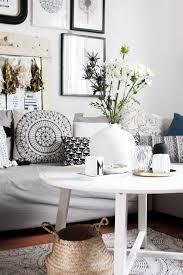 wohnzimmer mit deko im vintage boho look dekoration