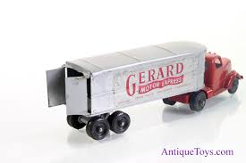 Gerard Motor Express Diecast Tootsietoy Truck For Sale - Antique ... Tootsie Toy Porsche Midgetory And Tootsie Cars Pinterest Vintage Truck Trailer I Antique Online Vintage Mobile Large Dump Truck By Tootsietoy Chicago 5 12 Camelback Vans Toy World Magazine Car No Paint Was Green Cameo Old Cab Tractor Unit 1 50 Scale Approx Diecast Otsietoy Ford Modela Roadster Pickup Diecast Plastic Blue 1930s Mack Oil Tanker Chairish Miscellaneous Military Die Castings Old Manoil And Trucks Collectors Weekly Shuttle 1967 Oc17168 Ebay El Camino
