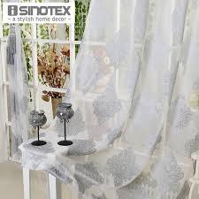 fenêtre rideau gris de luxe tulle voile tissu pour rideaux salon